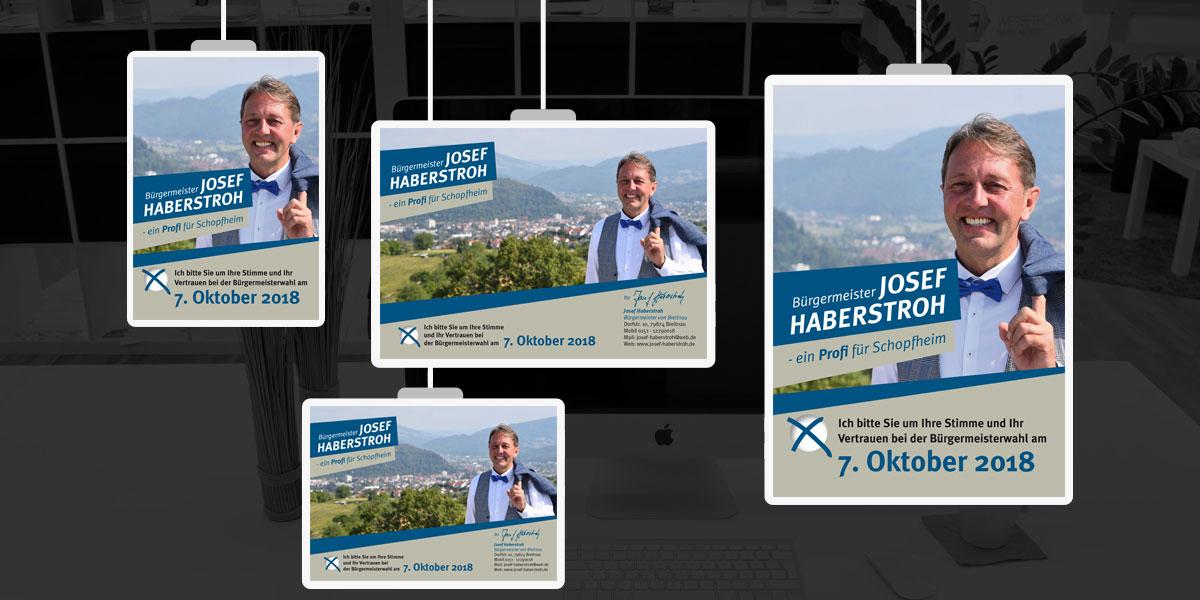 Flyer, Borschüre, Visitenkarte, Briefbogen für Wahlkampf