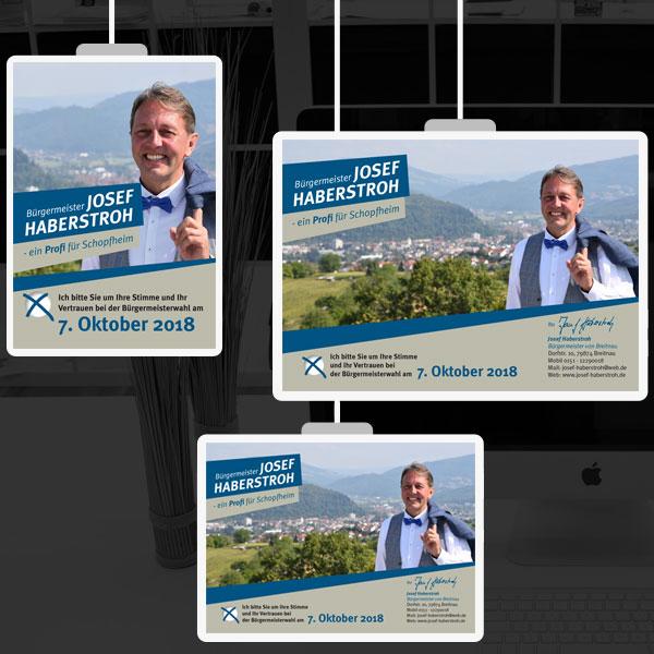 Plakate für Wahlkampf