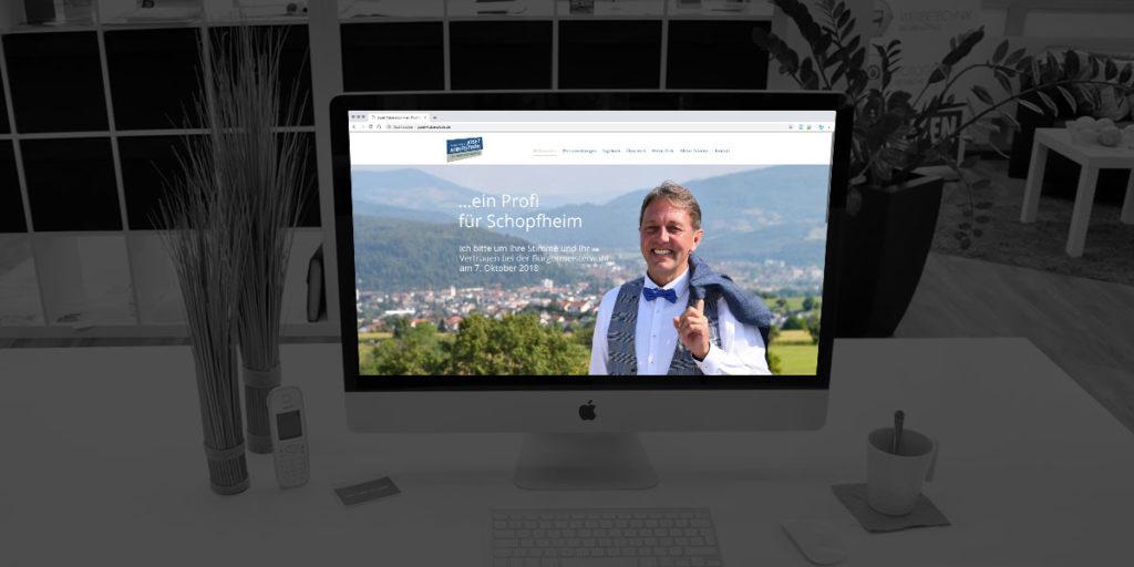 Wahlkampf Webseite