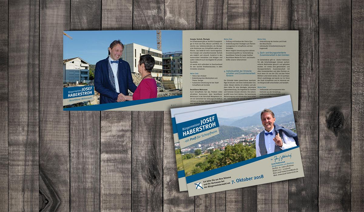 Image-Broschüre für Wahlkampf