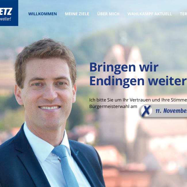 Logo und Image für Bürgermeisterkandidat
