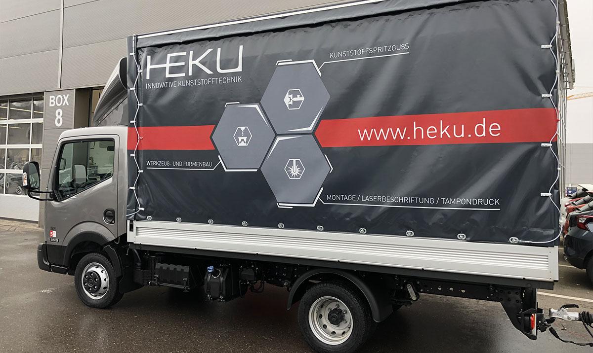 LKW Gestaltung der Firma HEKU