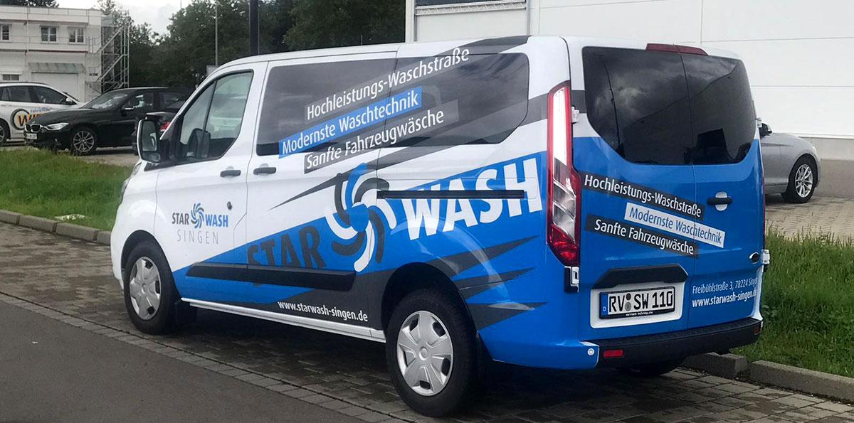 Fahrzeugdesign STARWASH-SINGEN eines Ford-Transit