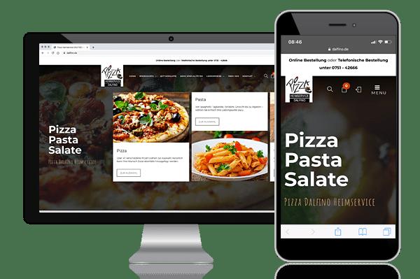 Website Relaunch für Pizza Lieferservice Dalfino aus Weingarten bei Ravensburg mit Responsive Webdesign