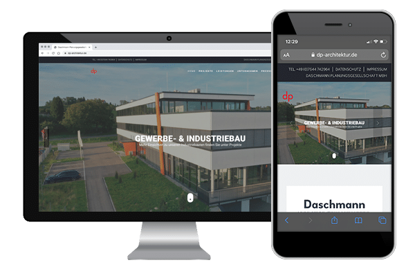 Neues Webdesign mit Responsive Design für mobile Endgeräte