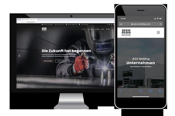 JESS Welding - Webdesign, Responsive Design und Corporate Design aus dem Hause binDERkreative in Weingarten