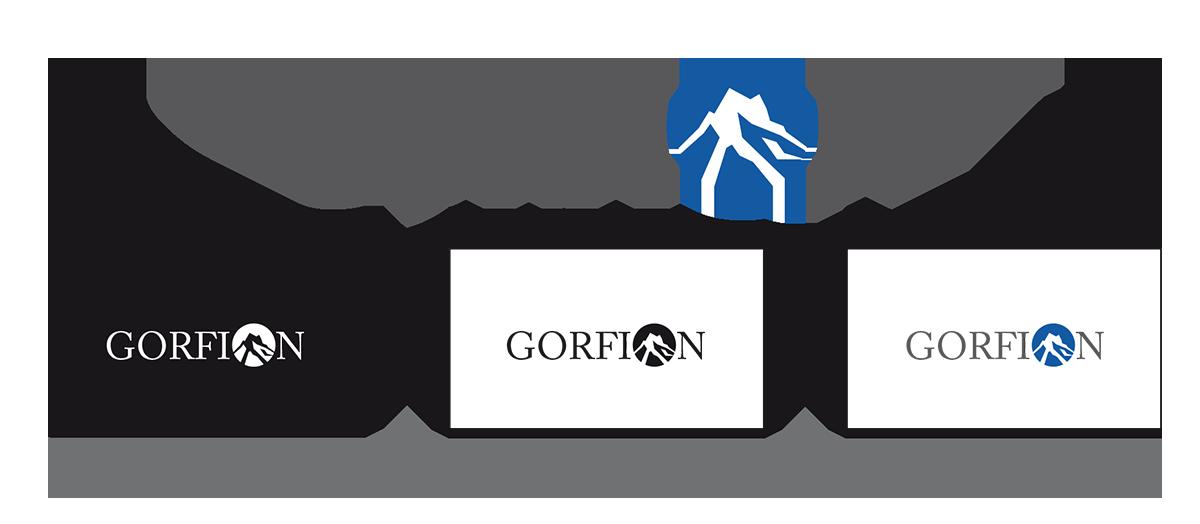 Logodesign, Logoentwicklung GORFION Marke, Wort-Bildmarke