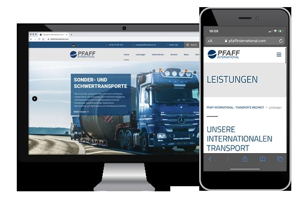 Responsive Webdesign, Mehrsprachige Internetseite mit Content-Management-System